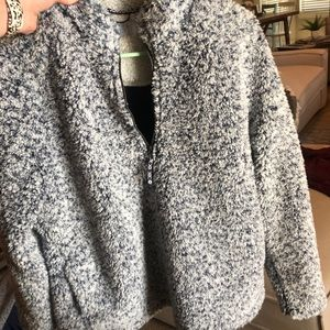 Time and Tru Teddy pullover- size L